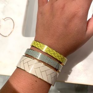 Stack of three one of a kind J Crew Bangles —deal!